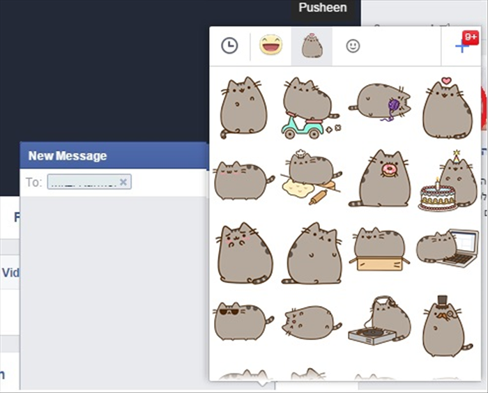 "<p> You can click on one of the tabs at the top to choose from another set.</p>   <p> In this case the ""Pusheen"" set is shown</p>   <p>  </p>"