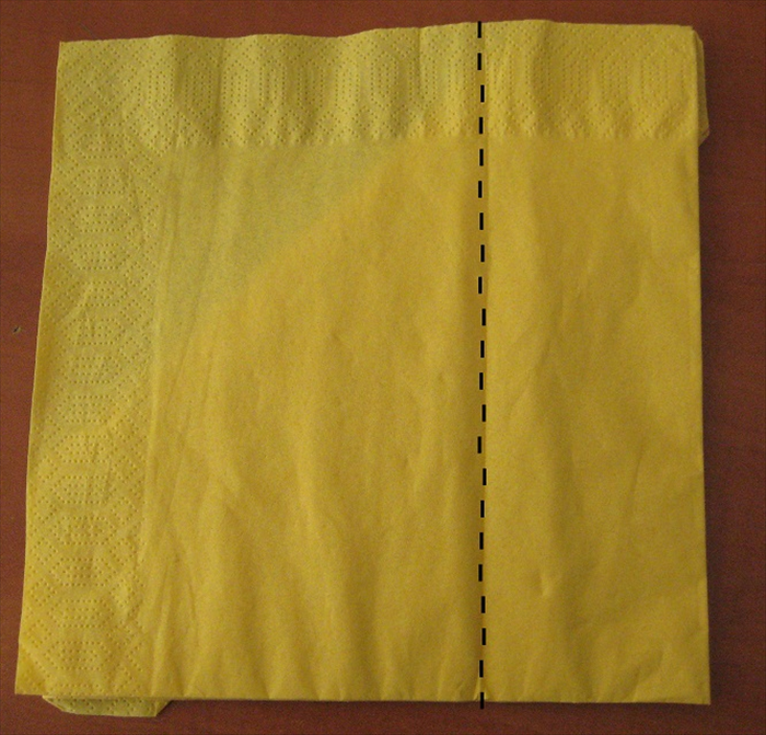 Flip the napkin over to the back side.
