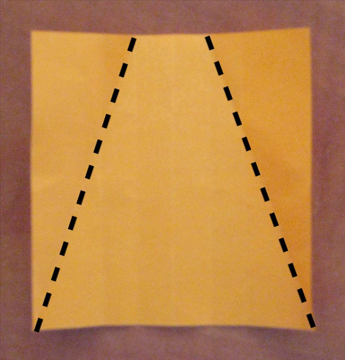 Rotate the paper so that the creases are from top to bottom.