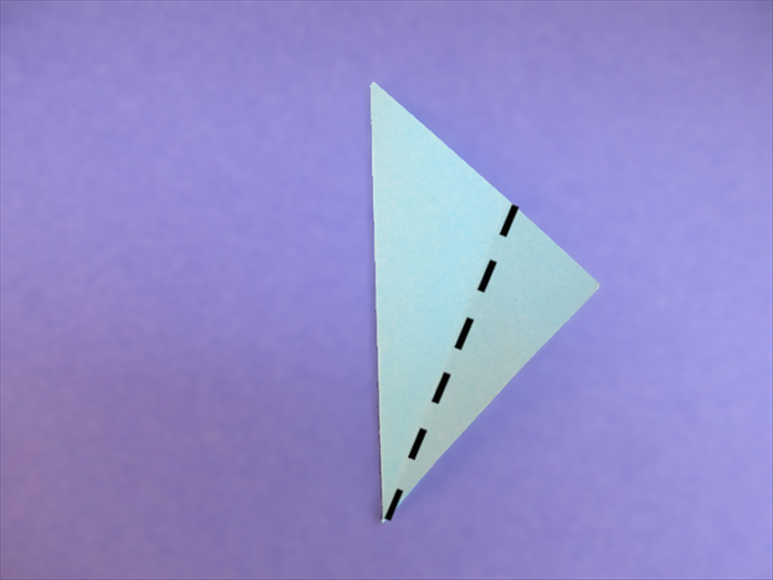 <p> Fold one layer of the right bottom edge to align with the left edge.</p>  <p> &nbsp;</p>