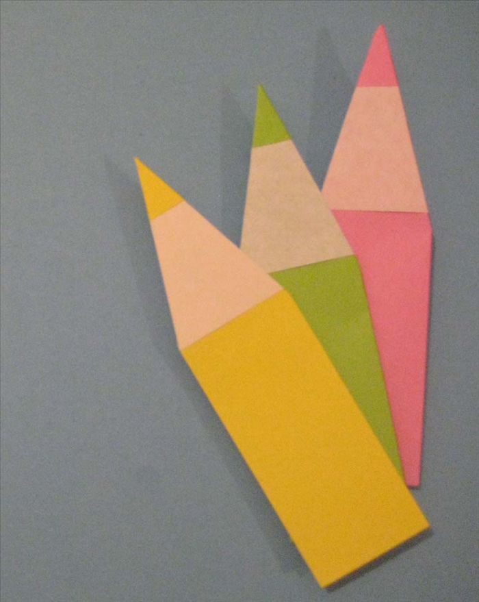 How To Fold An Origami Pencil Origami For Children