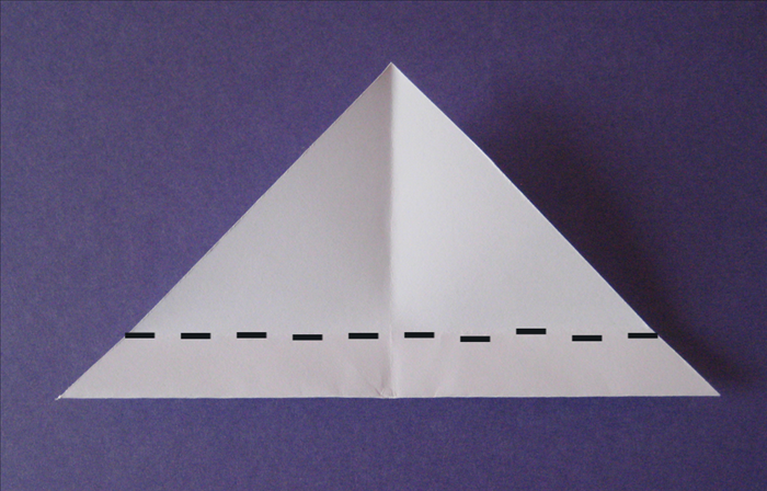 Fold the bottom edge up as shown in picture.