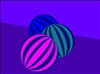 How to make a simple striped ball with Inkscape