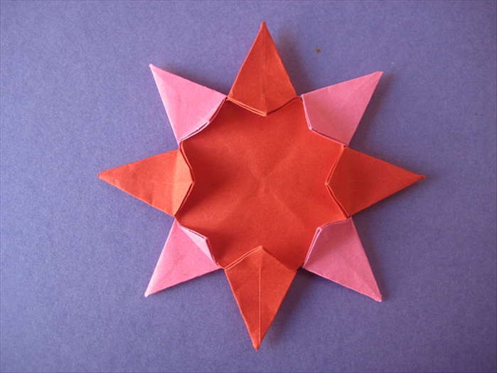 Your 8 pointed origami star is finished!