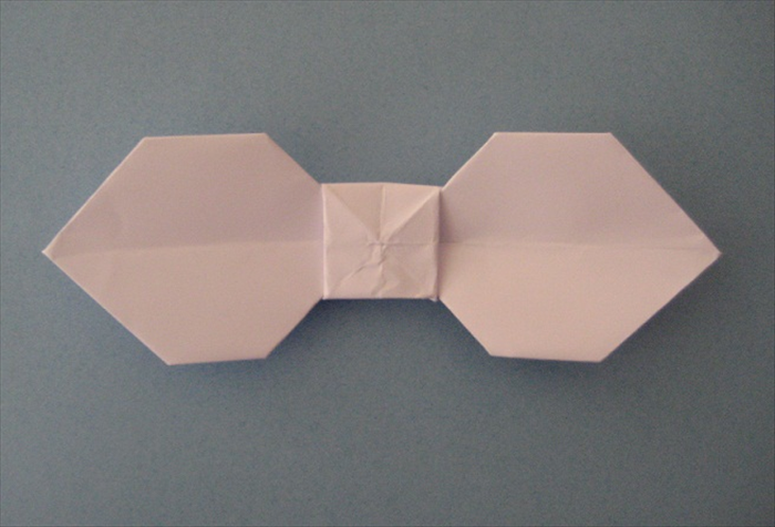 Flatten The Center And Your Bow Tie Is Finished