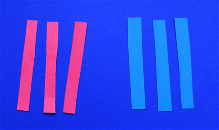 Cut 6 equal sized strips of paper – In this guide the length is 6 times the width