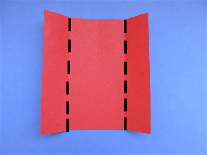 <p> Fold the side edges to the crease mark.</p>   <p>  </p>