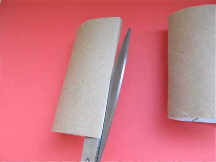 Cut each roll open along the crease of 1 side