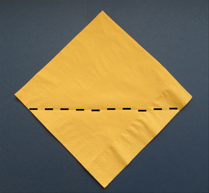 paper serviette folding instructions