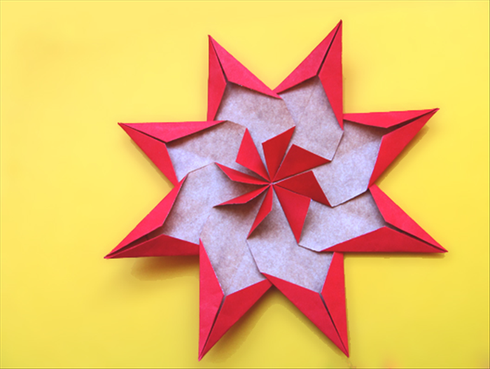 How to make a large origami star decoration for How to make a big paper star