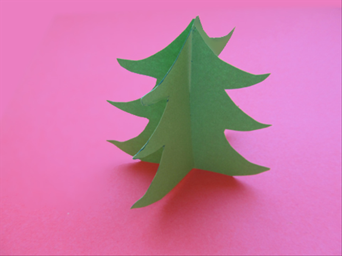 How To Make A Paper Christmas Tree In 3D