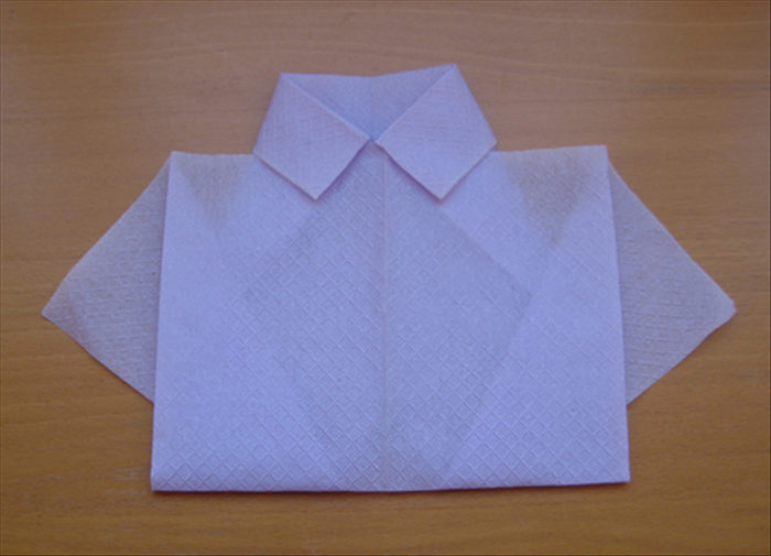 Your napkin shirt is finished!