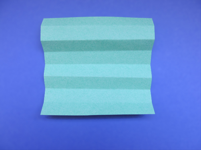 <p> Unfold the paper</p>  <p> Use the crease lines to fold the paper accordion style</p>  <p> &nbsp;</p>