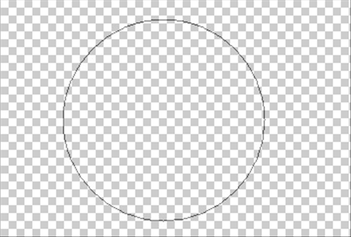 "Press  the ""Shift"" key  and drag a circle until it is the size you want. The circle you have made is the circle path."