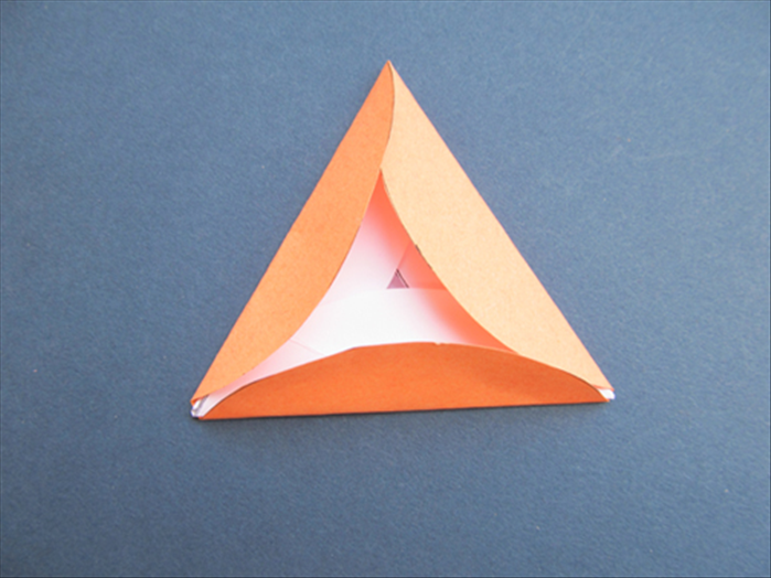 Fold the other 2 sides up over the edges of the triangle