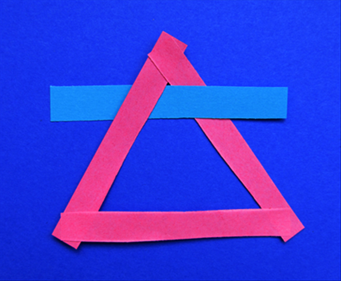 Insert a strip in under the left top of the triangle,  as shown in the the photo