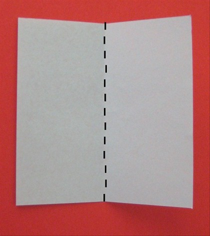Fold a square paper in half.