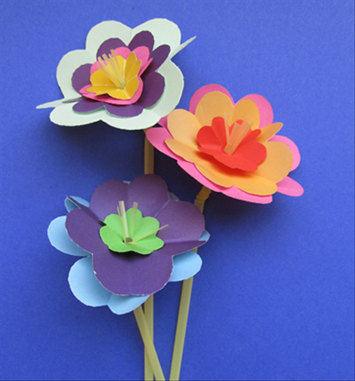 How to make beautiful flowers from junk mail paper crafts for kids junk mail or scrap paper drinking straws scissors mightylinksfo