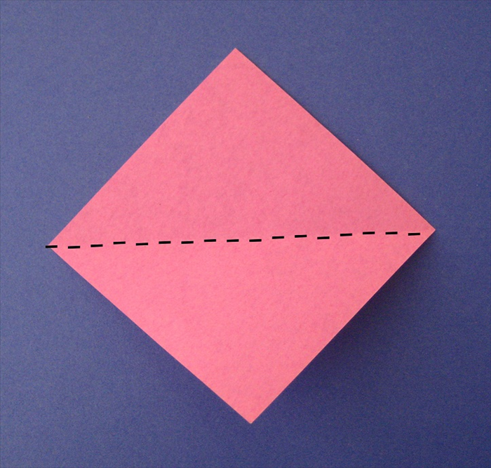 Fold a  square in half diagonally unfold