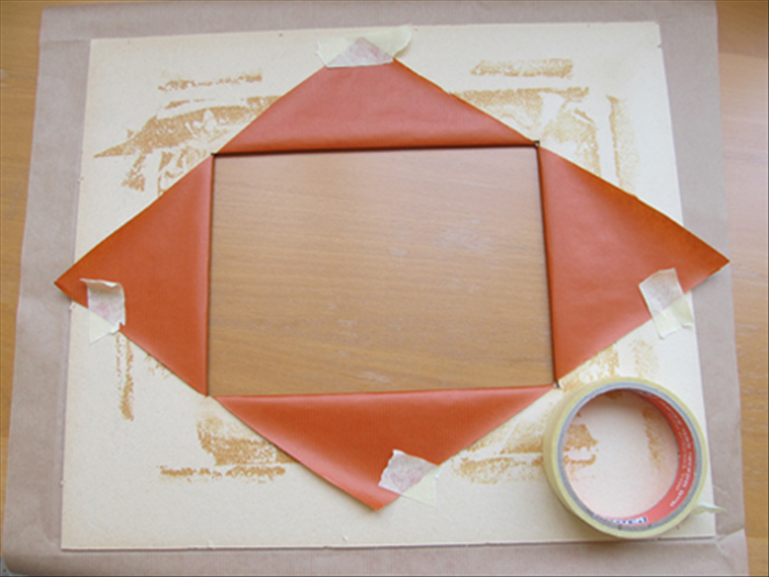 Place the paper or material facedown. 