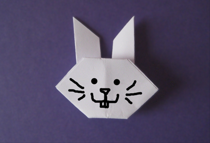 Your origami rabbit is finished!