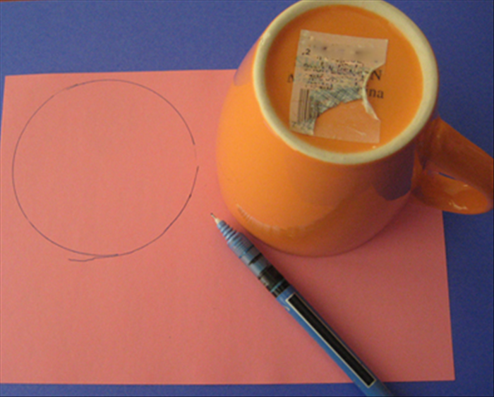 Choose the colored papers you want for the petals.