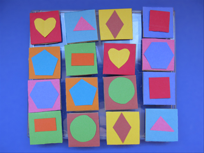 <p> Here is an example of a shape matching game.</p>  <p> You can choose any subject to suit your child.</p>  <p> Have fun!</p>
