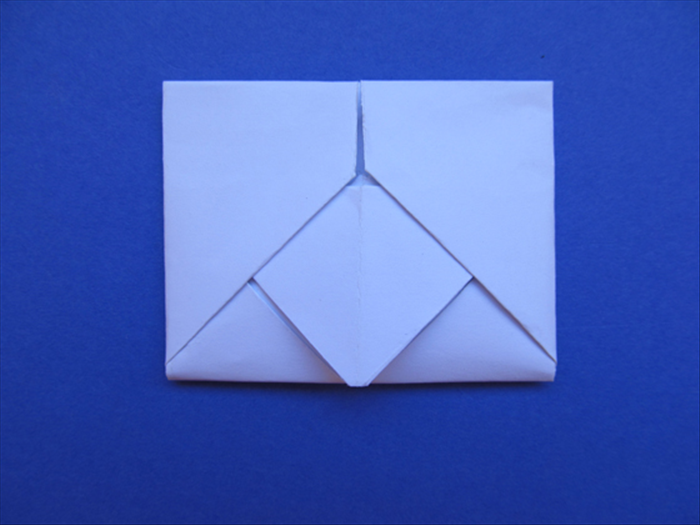 How to fold a letter into an envelope with a diamond design