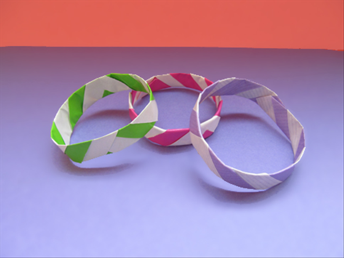 Your Paper Bangle Bracelet Is Finished