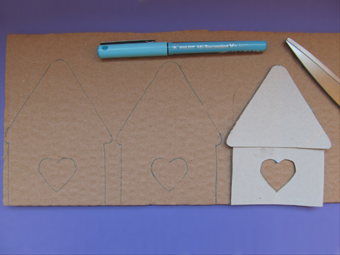 <p> Use the template to trace as many houses as you want.</p>  <p> Cut them out along the outside edges.</p>  <p>  </p>