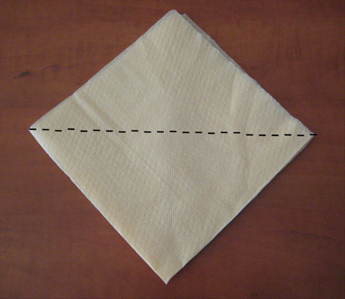 Place the napkin unfolded on the table.