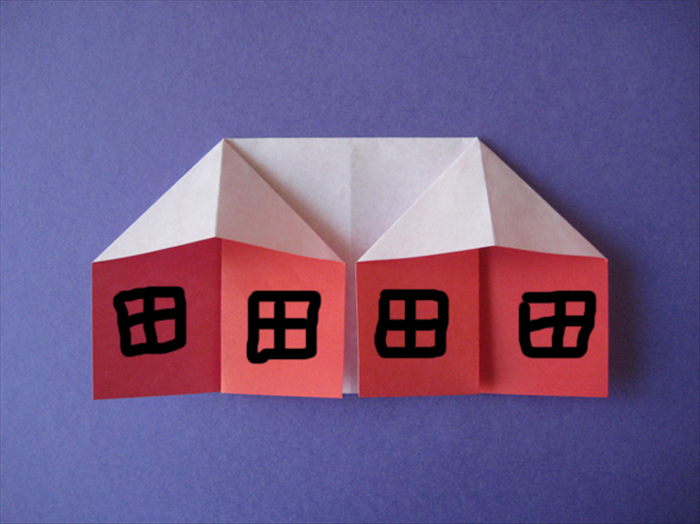How to fold an origami house origami for children for How to make house with paper folding