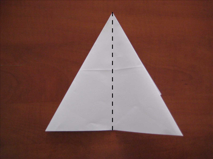 Fold in half vertically Unfold