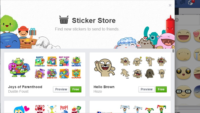 <p> The sticker store will appear</p>   <p>  </p>