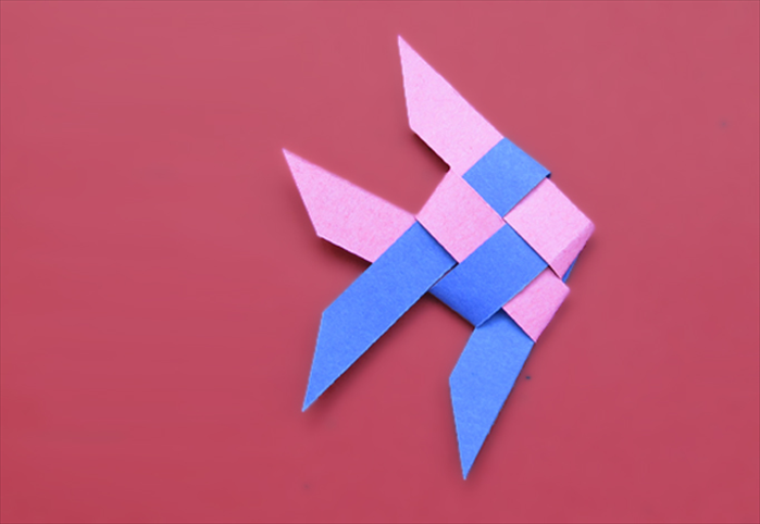 How to make a fish from woven paper strips or ribbon for How to make fish
