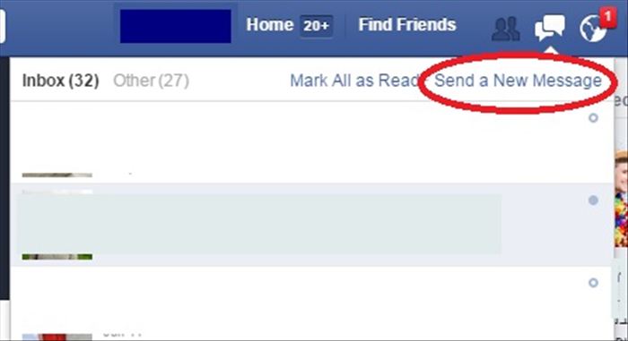 "<p> Your message  inbox will appear.</p>   <p> Click on ""Send New Message""</p>  <p> * circled in red in the picture</p>   <p>  </p>"