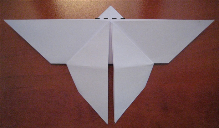Flip the paper over to back side.  Fold down the triangle at the top.