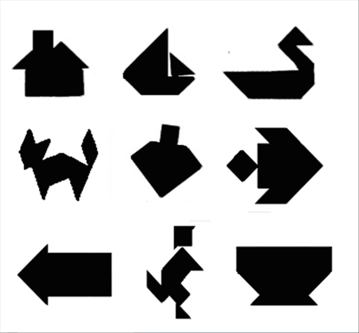 How to make a tangram. Chinese puzzle toy