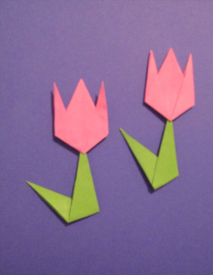 How To Fold A Simple Origami Tulip For Children
