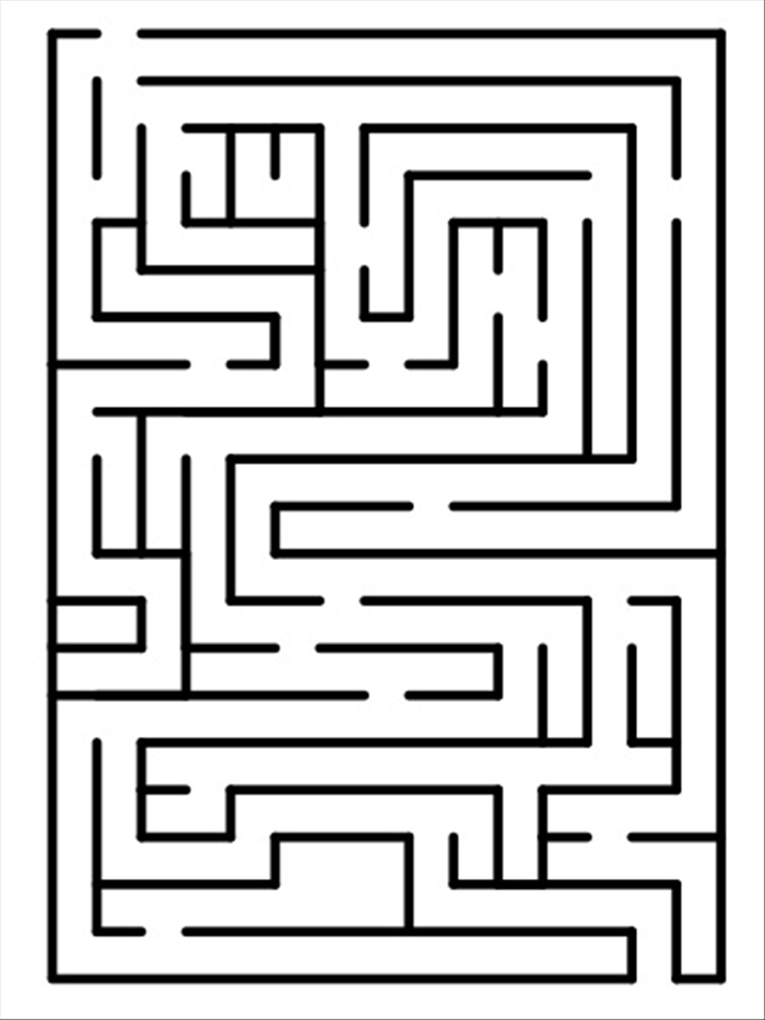 <p> 1. This example was made on a 15 X 20 grid, made with the guide creator extension. </p>  <p> You can change the number of columns and rows of the grid and make the maze as simple or complicated as you like.  </p>