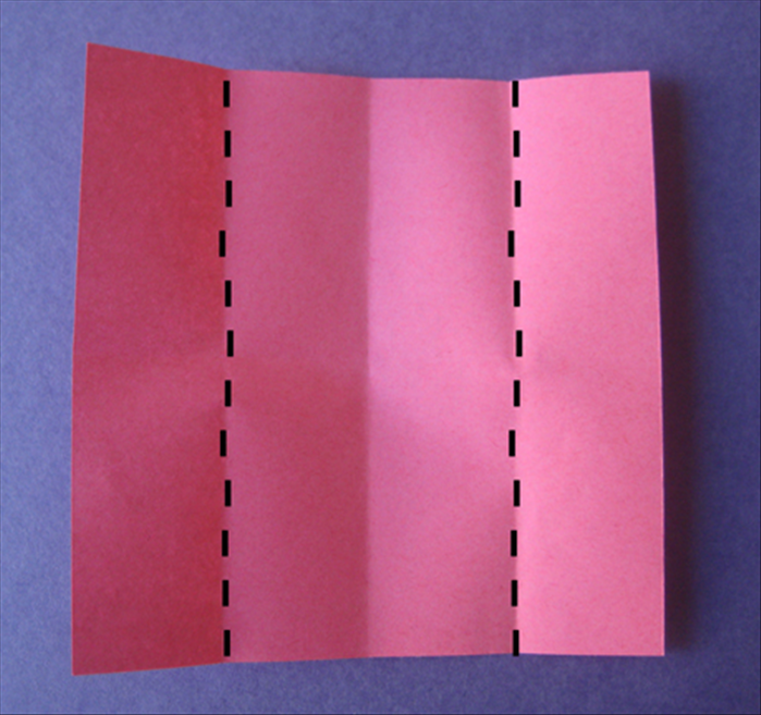Fold the 2 sides to the center crease.
