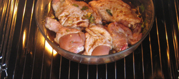 Bake in 350 degrees fahrenheit  oven  50-60 minutes or until the chicken is cooked