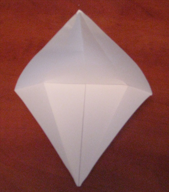 Unfold the 2 flaps at the top.
