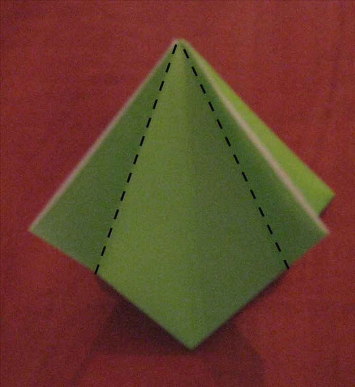 Make sure the open edge of your square base is at the top.