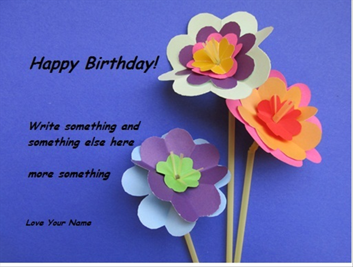 It is very easy to make an e-card with Microsoft Paint
