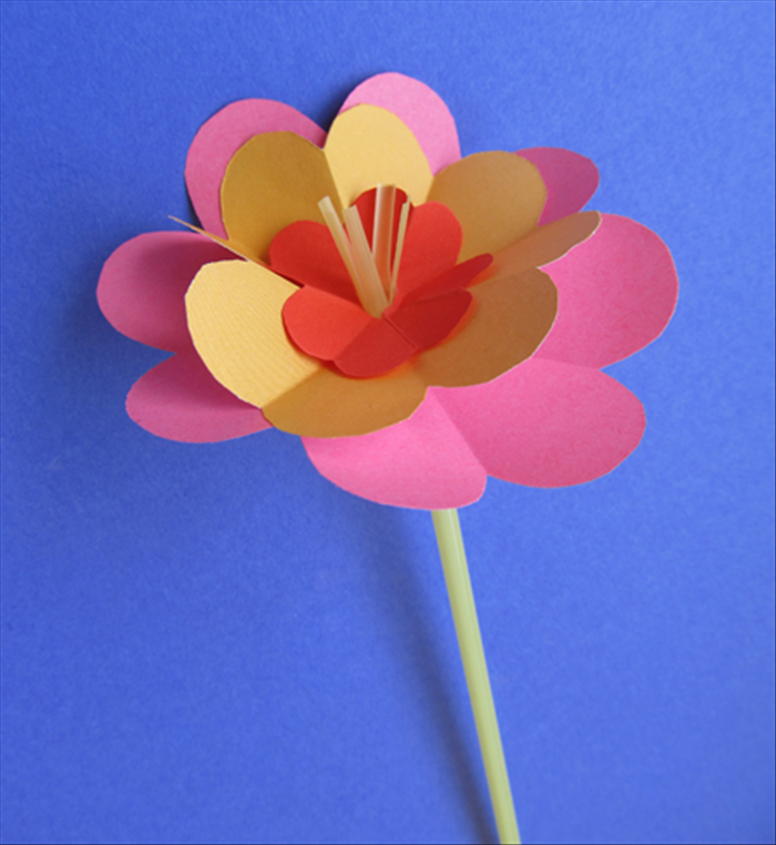 How to make beautiful flowers from junk mail paper crafts for kids slide more shapes up from the bottom and your flower is finished mightylinksfo