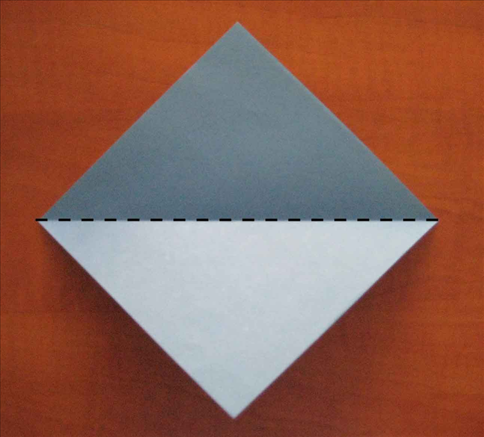 Place the paper with the points at the top, bottom and sides.