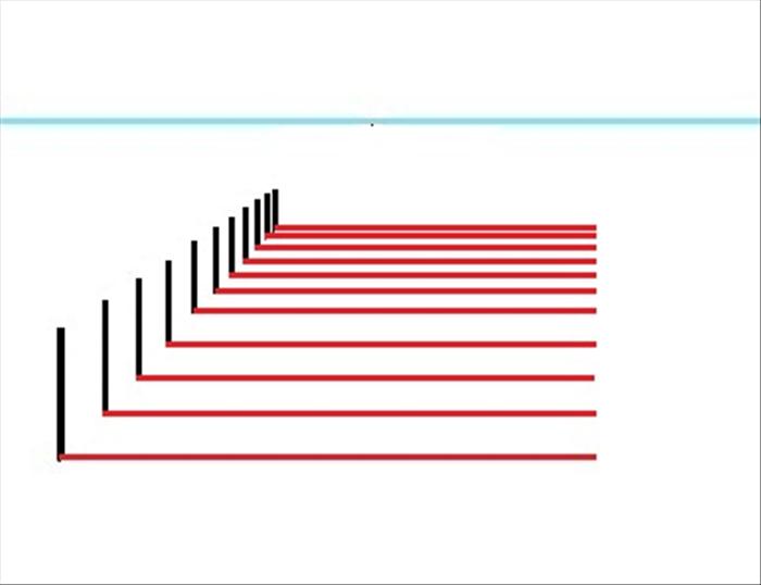 how to draw horizontal line ineviews