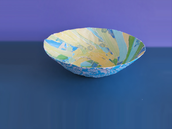 Enjoy your paper mache bowl!