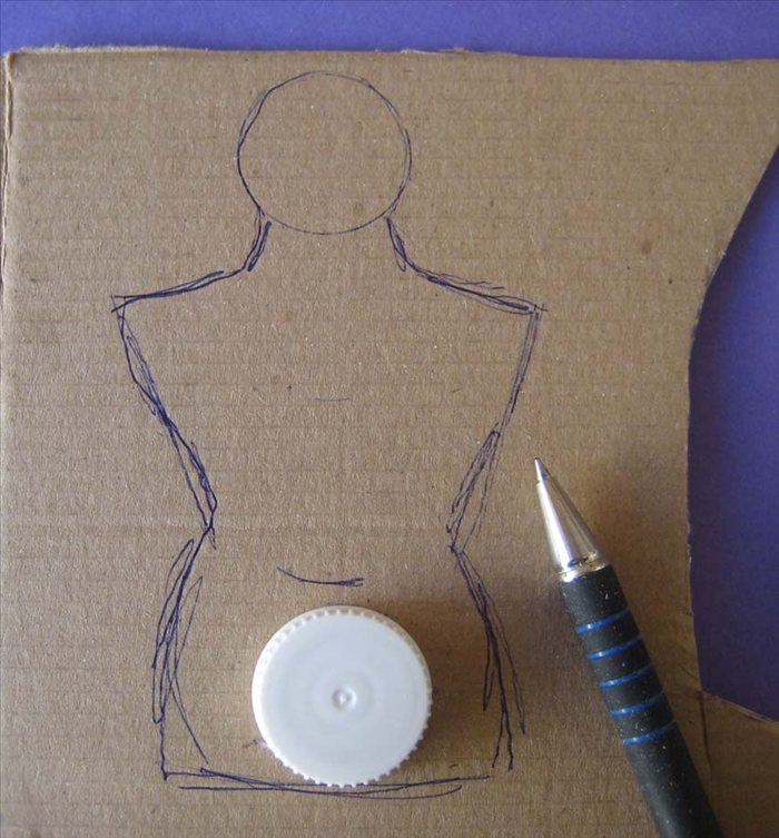 Draw the torso as shown in the picture.